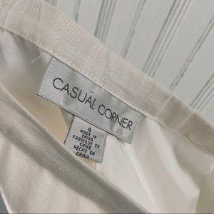 Vintage Pants & Jumpsuits - Vtg Linen Casual Trousers